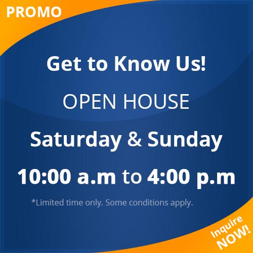 Get to know us: OPEN HOUSE Sat & Sun 10-4pm!